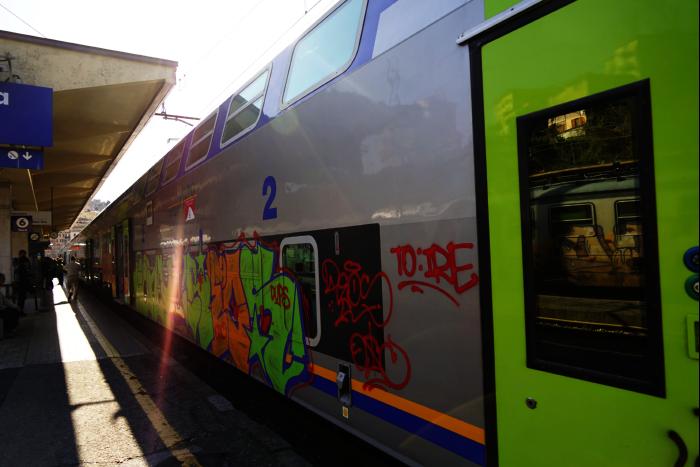 イタリア マナローラ駅 鉄道 201603