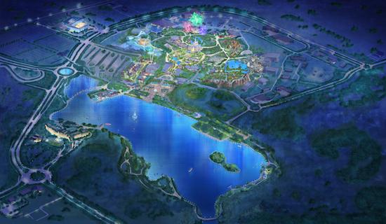 上海ディスニーランド 夜
