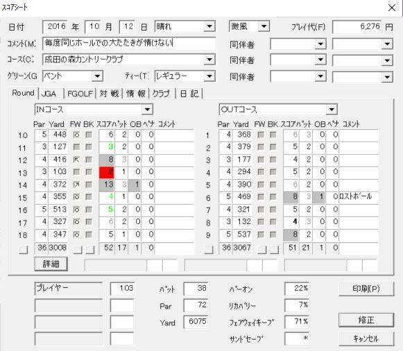 20161012成田の森スコア