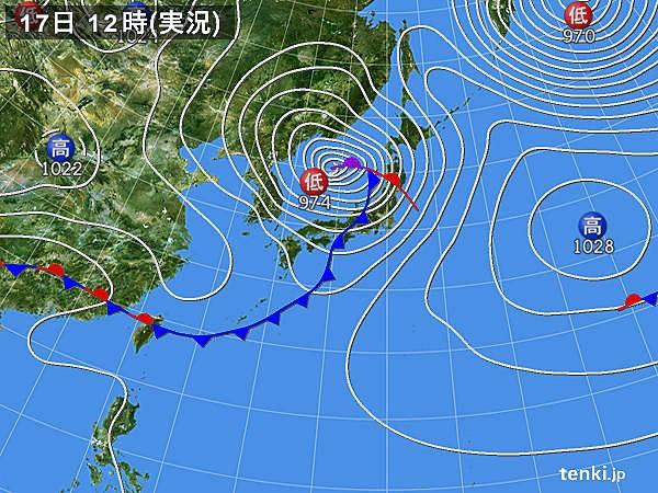 日本海低気圧と関東の天気 - 気...