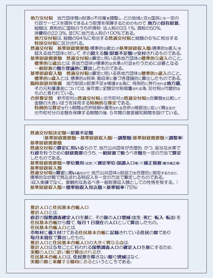 埼玉県40市平成28年度普通交付税の交付予定額・コメント2