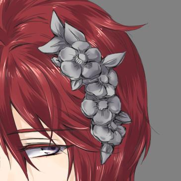 メイキング髪飾り