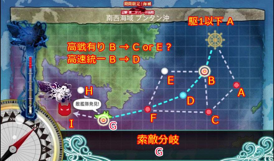 艦これ,攻略,16夏,E1,MAP,編成,ルート,自作