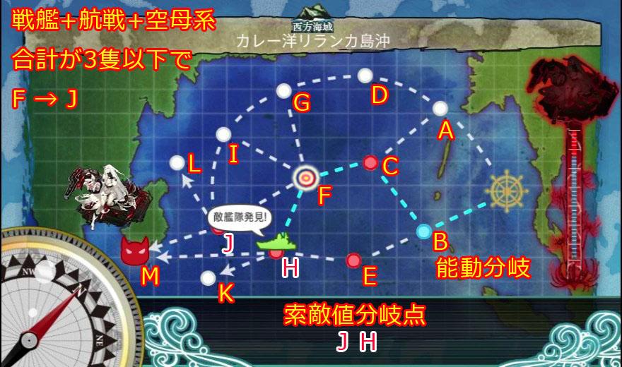 艦これ,攻略,4-5,MAP,中央,中央下