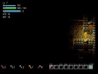 EvilMaze,次の階層へ,階段