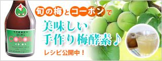 旬の梅とコーボンで美味しい手作り梅酵素♪