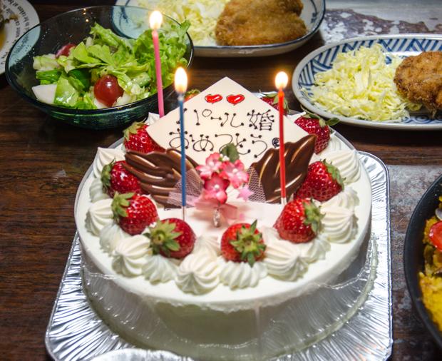⑤お祝いのケーキ