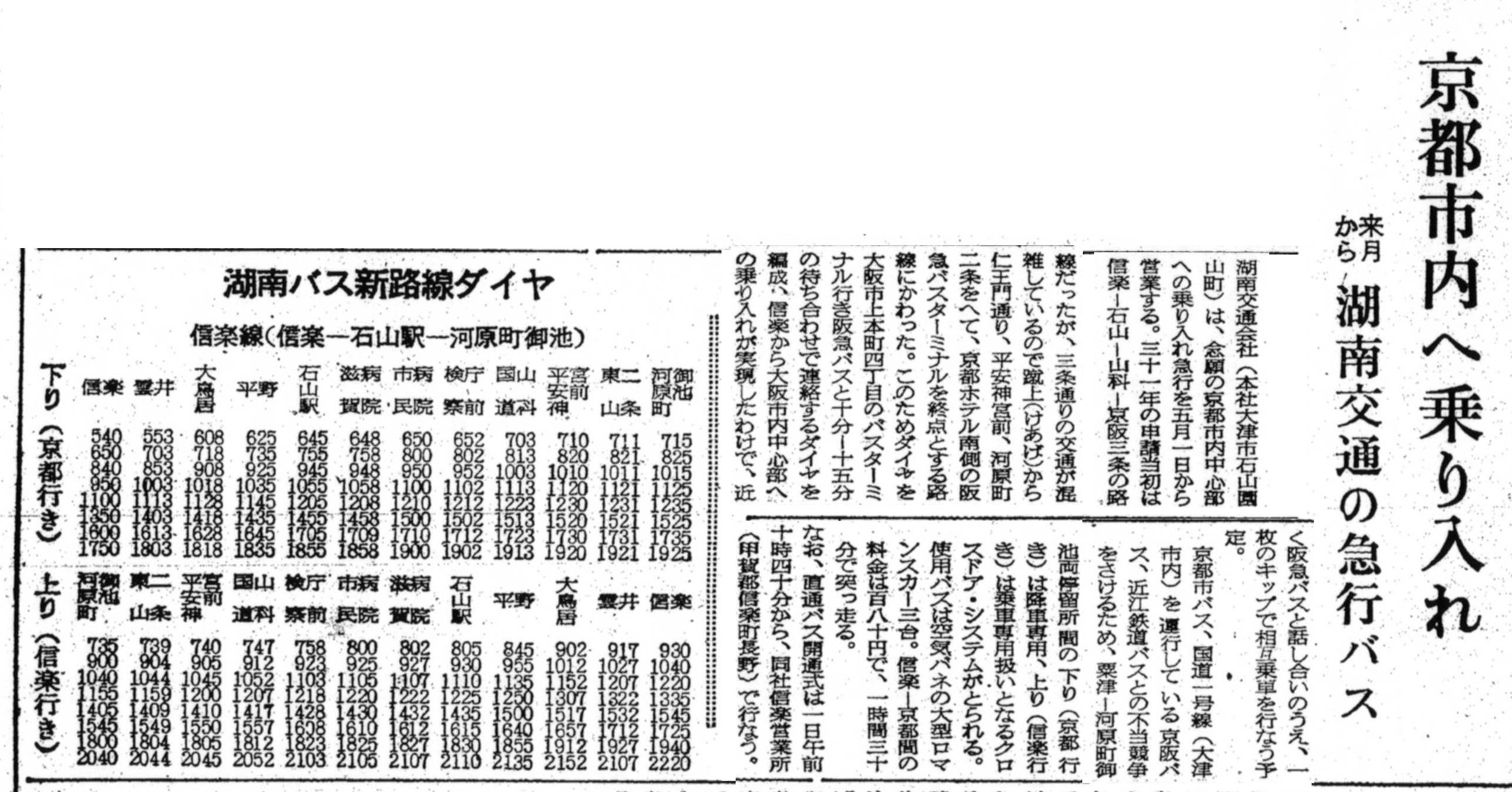 S37.4.29Sa 湖南交通信楽‐京都線開通b