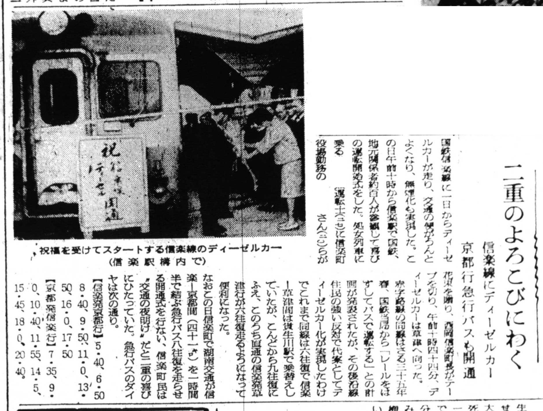 S37.5.2A 湖南交通信楽‐京都線開通 信楽線ディーゼルカー入線b