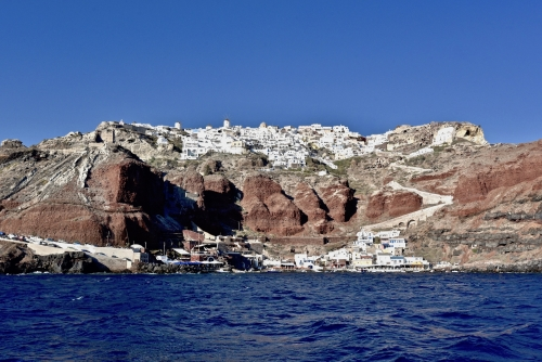 Oia from the Sea