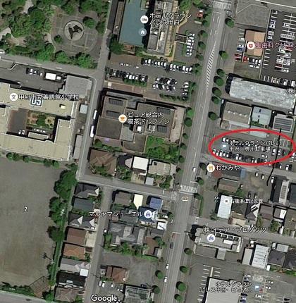 航空写真 クラウンパレス駐車場