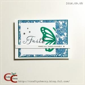 Crafty Cherry * faith butterfly