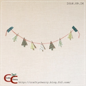 Crafty Cherry * tree garland 1