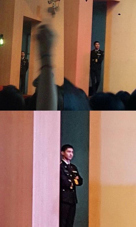 ドンへさんの舞台嬉しそうに見物されるチャンミンさんかわいいウォン718