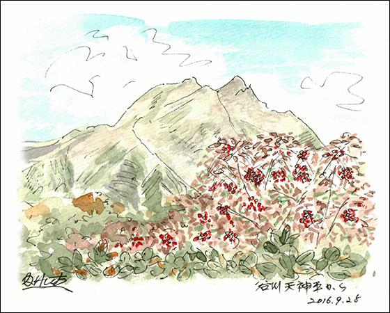 天神峠から仰ぐ谷川岳