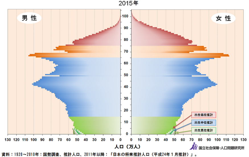 2015年人口ピラミッド