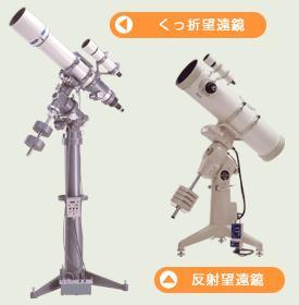 反射式望遠鏡と屈折式望遠鏡の正しい向き