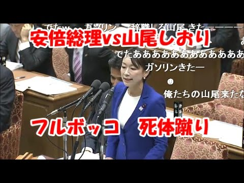 【国会2016秋】民進党☆山尾志桜里 安倍総理にボッコボコにされる