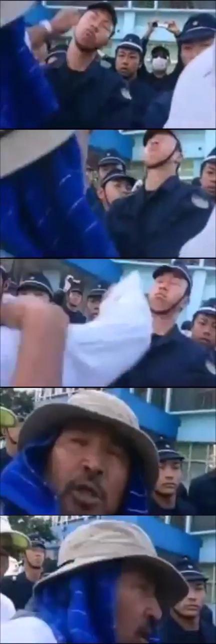 極左暴力集団リーダーによる警察官への暴行