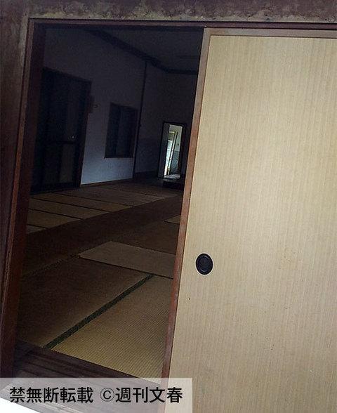 事件現場となった「合宿所」内部