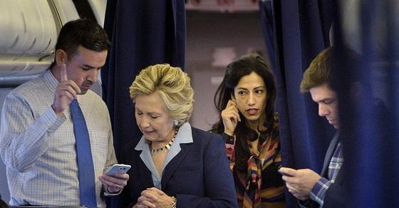 ヒラリーの第一秘書フーマ・アベディンが消えてるみたいだね。