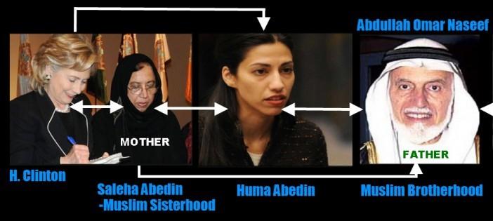 ヒラリーの第一秘書フーマ・アベディンはイスラム教徒