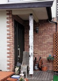 16-7-5玄関柱再塗装1