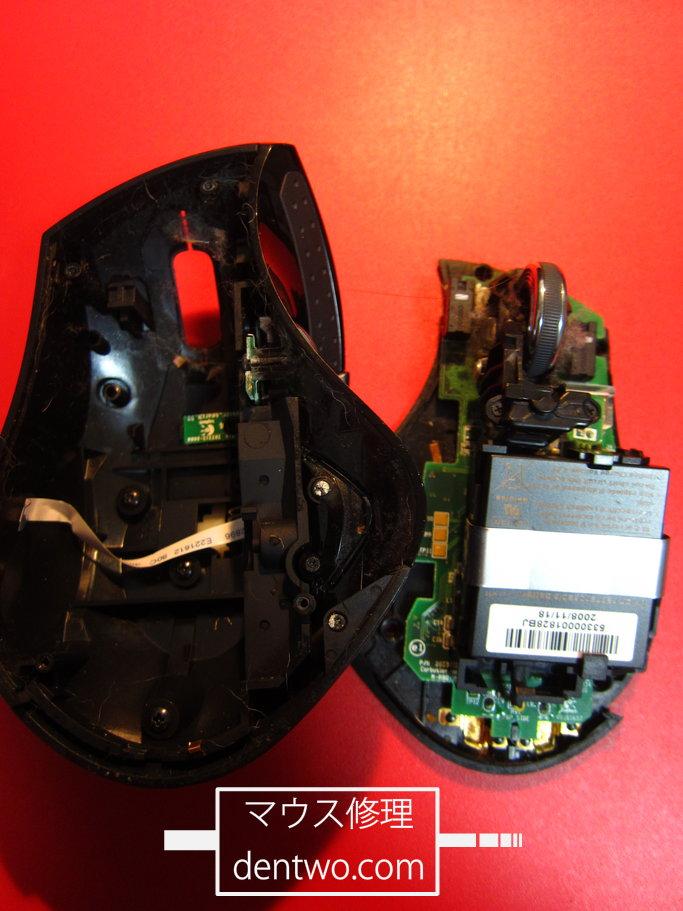 Logicool(Logitech)製マウス・MX-R(MXレボリューション)の分解後の画像です。160709IMG_2909.jpg