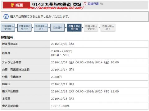 JR九州IPO当選 東海東京証券