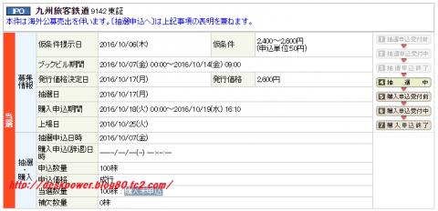 JR九州丸三証券IPO当選!