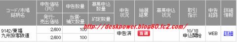 SMBC日興証券九州旅客鉄道IPO当選JR