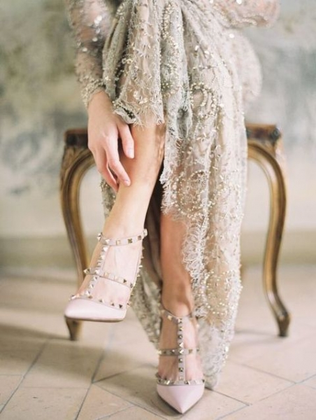 03-grey-wedding-dress-with-sequins-and-spiked-blush-heels.jpg