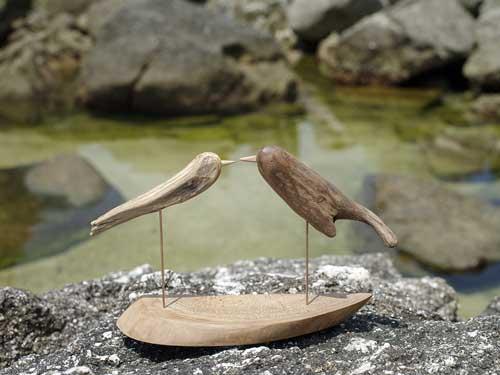 流木の鳥、7-30-2