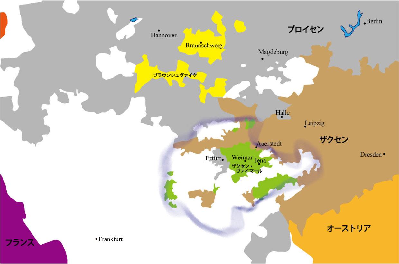 1806_1812Map02ヴァイマル用地図01フランクフルト