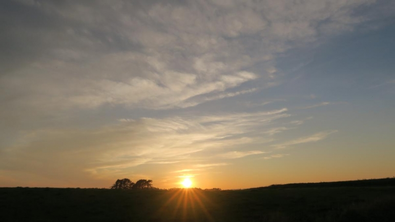 白糠町の夕日