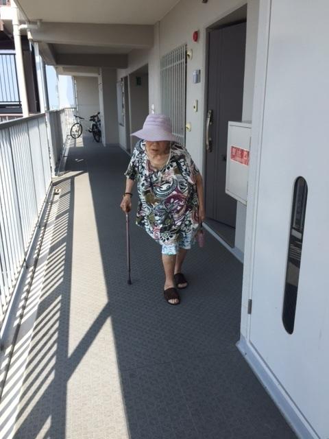 婆ちゃん散歩