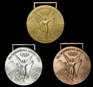 アテネオリンピックの金メダル・銀メダル・銅メダル
