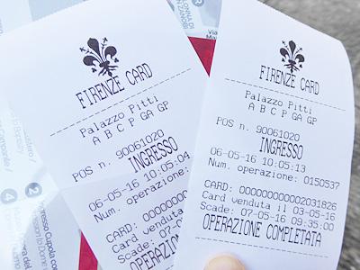 ピッティ宮のチケット
