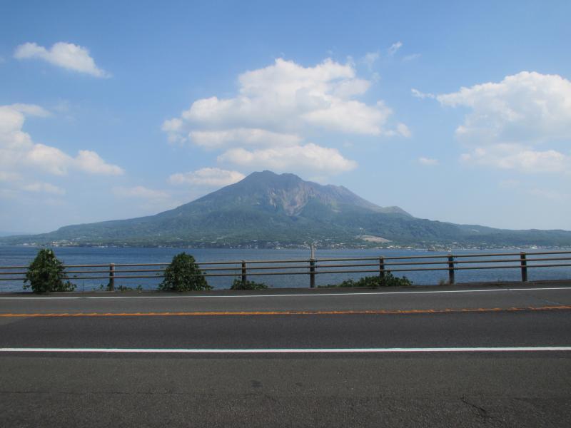 国道10号線桜島