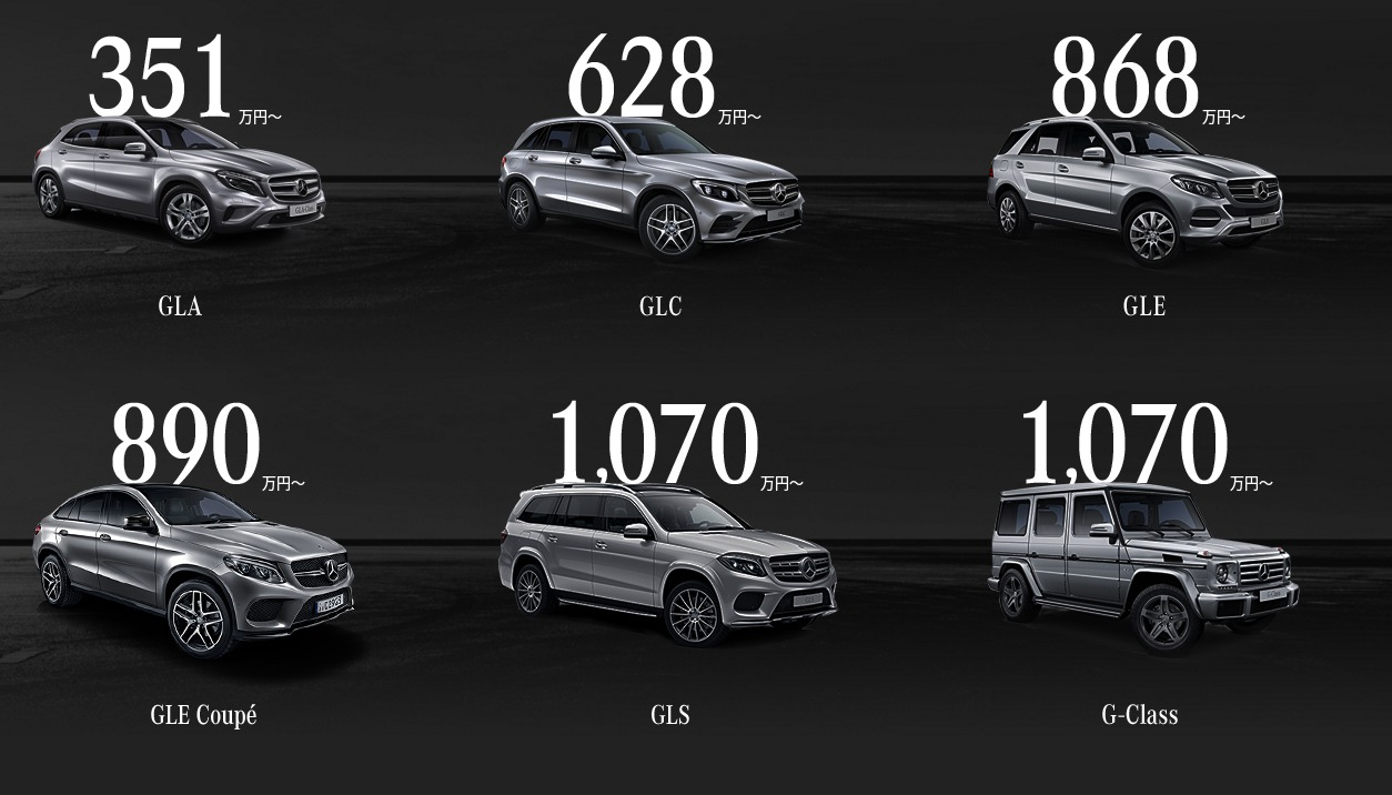 Mercedes SUV メルセデス・ベンツ日本