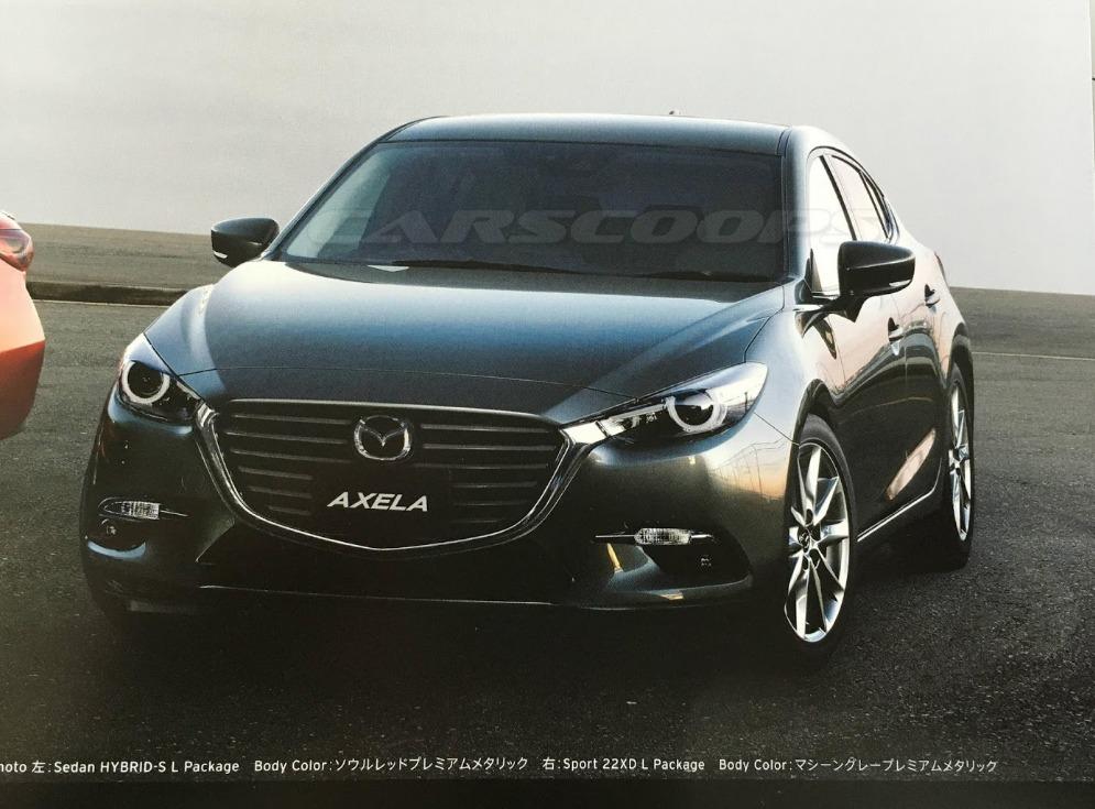 2017 Mazda3 Axela Facelift Leaked 2