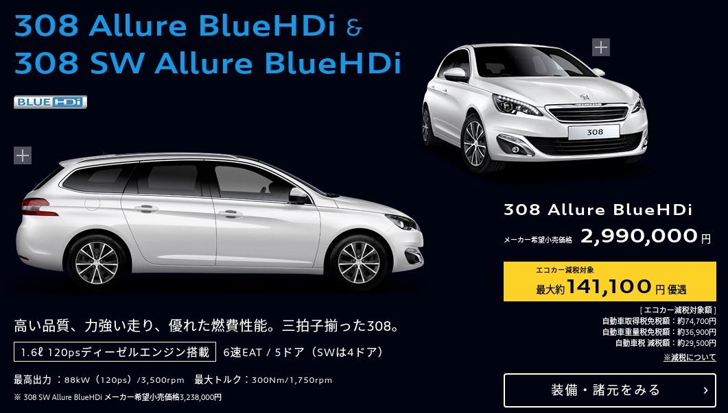 Peugeot BlueHDi DIESEL スペシャルサイト