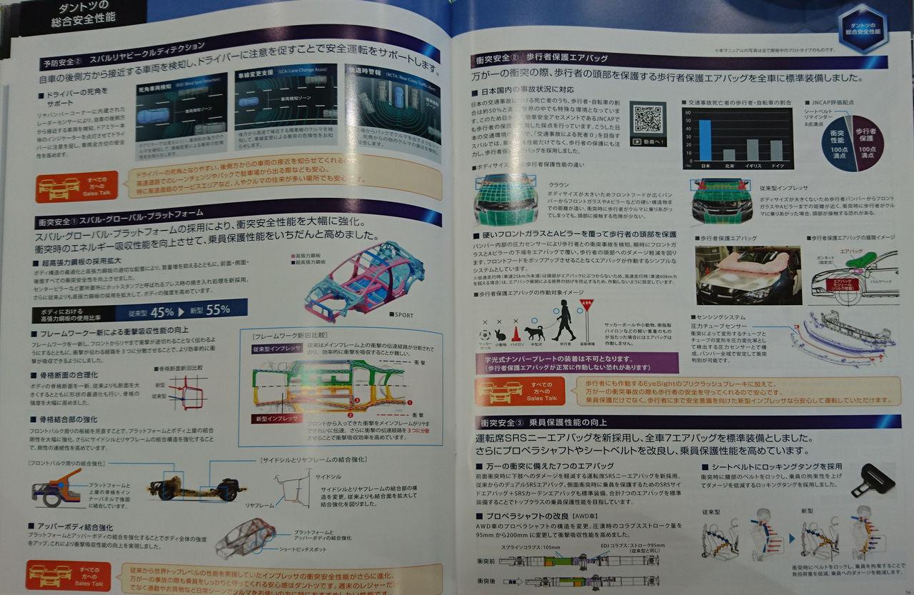 スバル 新型インプレッサ カタログ4