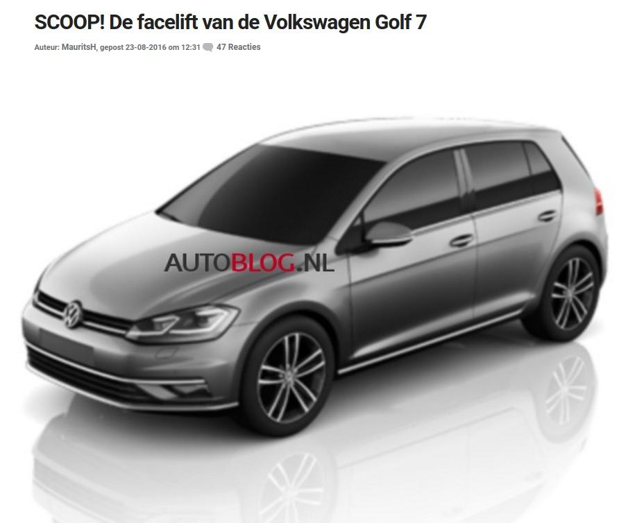 SCOOP De facelift van de Volkswagen Golf 7 Autoblognl