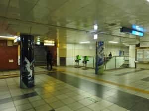 地下鉄関内駅。