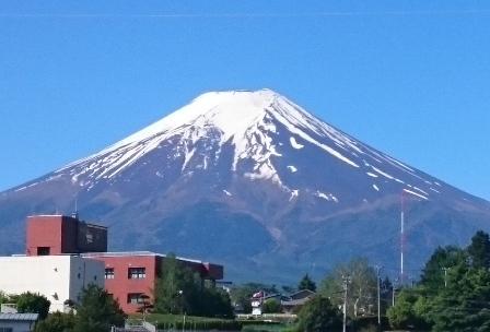 現地の富士山-2