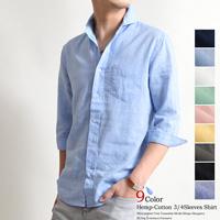 ホリゾンタルカラー メンズ シャツ 40代 夏2