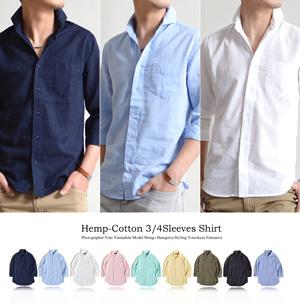 ホリゾンタルカラー メンズ シャツ 40代 夏1