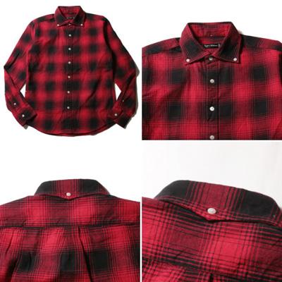 秋冬 2016 メンズ フランネルチェックシャツ