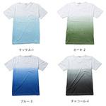 グラデーションTシャツ メンズ 白パンツ コーデ